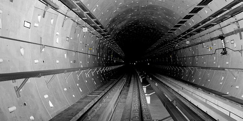 Laser scanning of a tunnel