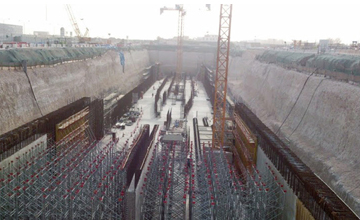 Doha Metro Construction Work