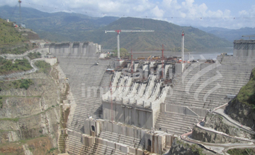 Gibe-III Hydroelectric Project Construction