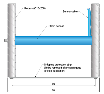 Model EDS-30V Shortcrete Strain Gauge