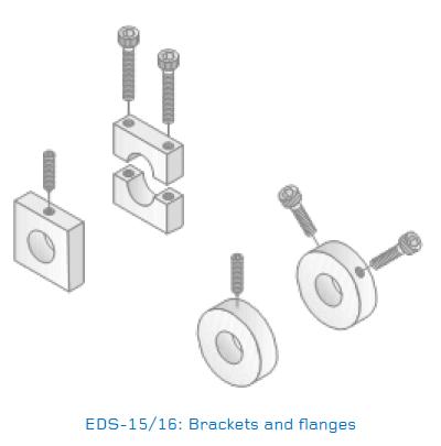 EDS-15/16 Mild Steel Brackets & Stainless Steel Flanges